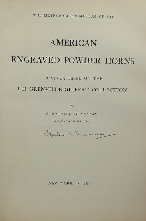 Image for American Engraved Powder Horns: A Study Based on the J. H. Grenville Gilbert Collection