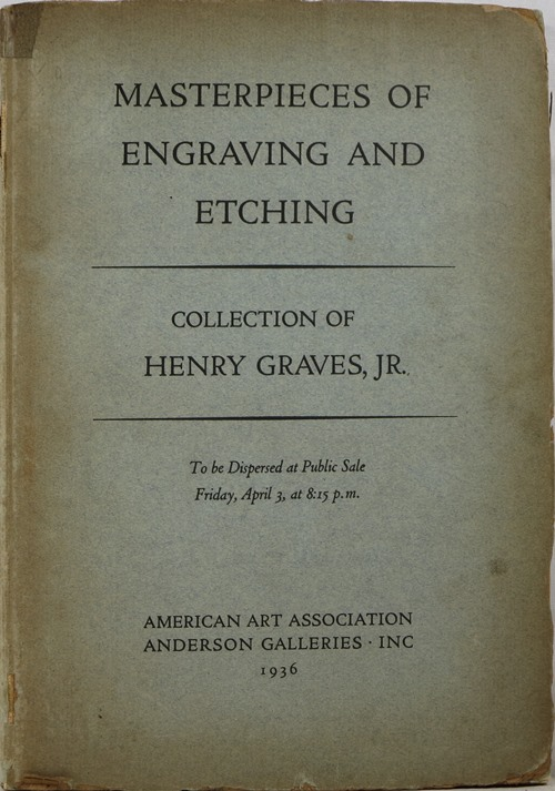 Image for Masterpieces of Engraving and Etching: Collection of Henry Graves, Jr.