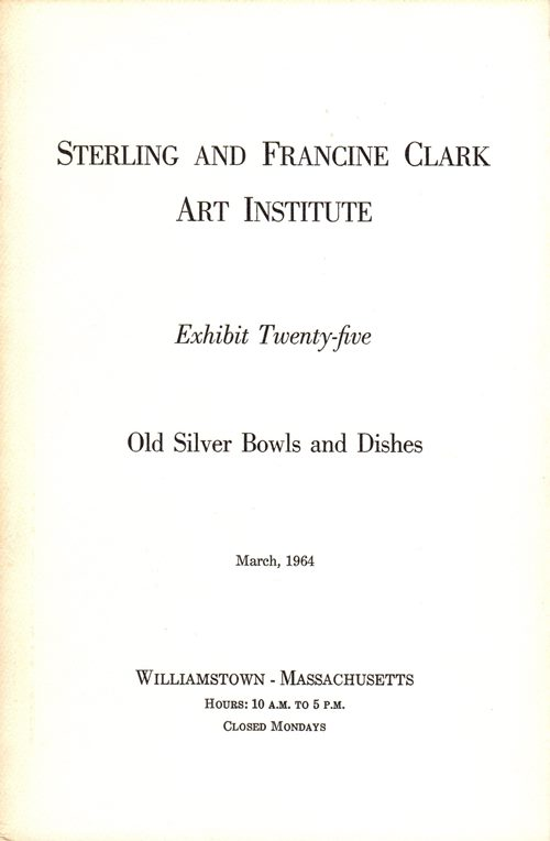 Image for Old Silver Bowls and Dishes (Exhibit Twenty-five)