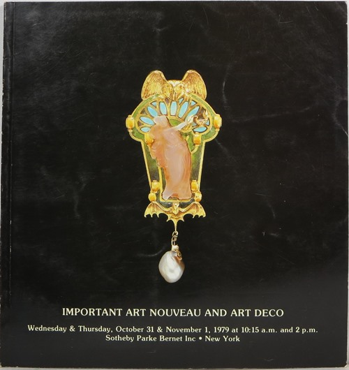 Image for Important Art Nouveau and Art Deco, New York, October 31 and November 1, 1979