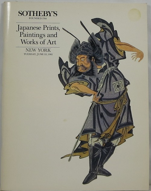 Japanese Prints, Paintings and Works of Art, New York, June 25, 1985