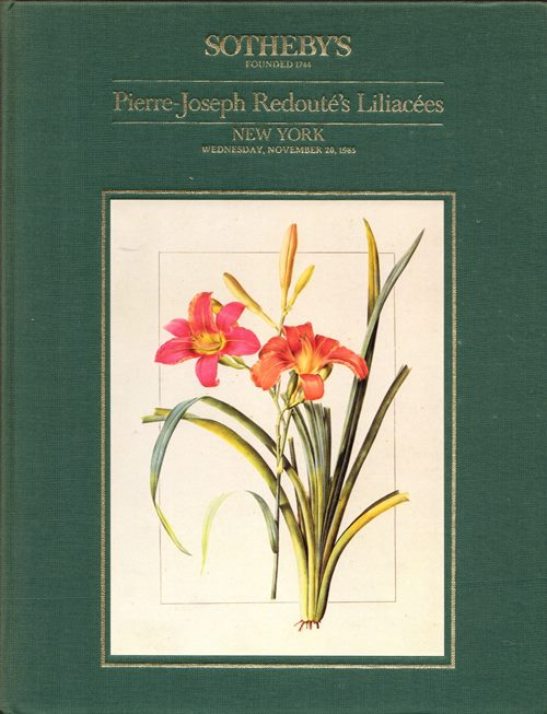 Image for Pierre-Joseph Redouté's Liliacées: The Empress Josephine's Copy with the Original Drawings and the Text on Vellum, New York, November 20, 1985 (Sale 5397)