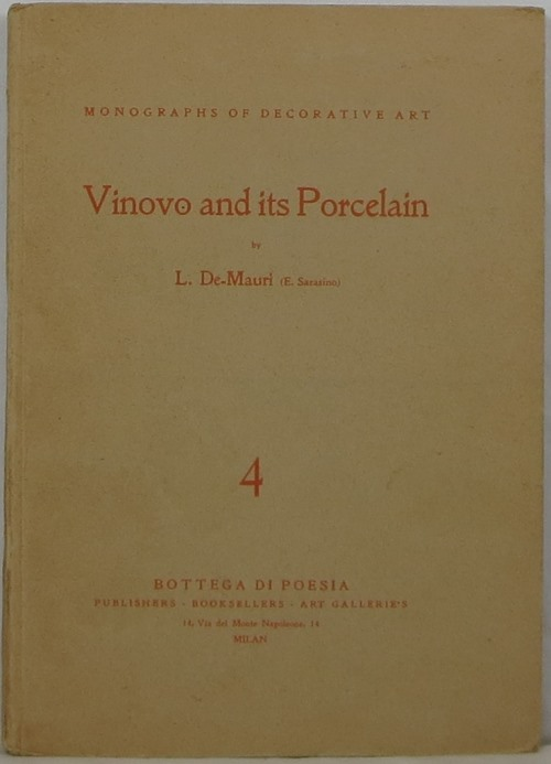 Image for Vinovo and its Porcelain (A Page of the History of Art in Piedmont)