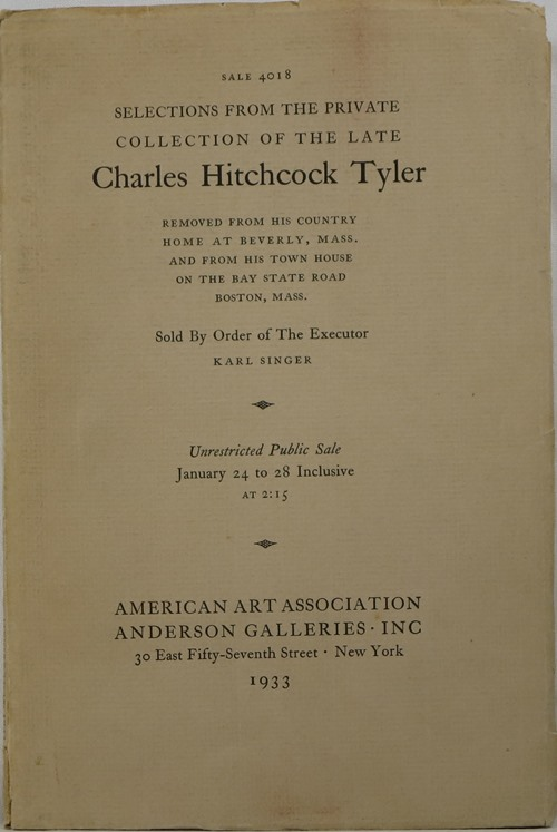 Image for Selections from the Private Collection of the Late Charles Hitchcock Tyler
