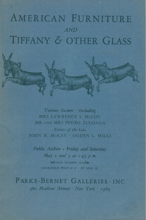 Image for American Furniture and Tiffany & Other Glass: Various Owners, New York, May 2 and 3, 1969 (Sale 2850)