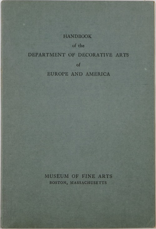 Image for Handbook of the Department of Decorative Arts of Europe and America
