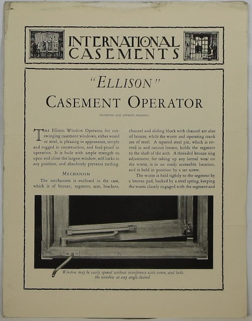 Image for International Casements Catalogue No. 7: Rolled Steel and Drawn Bronze Casement and Composite Windows, Casement Window Hardware, Solid Steel Austral Windows