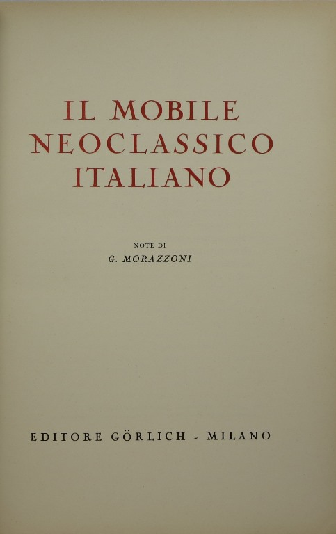 Image for Il Mobile Neoclassico Italiano