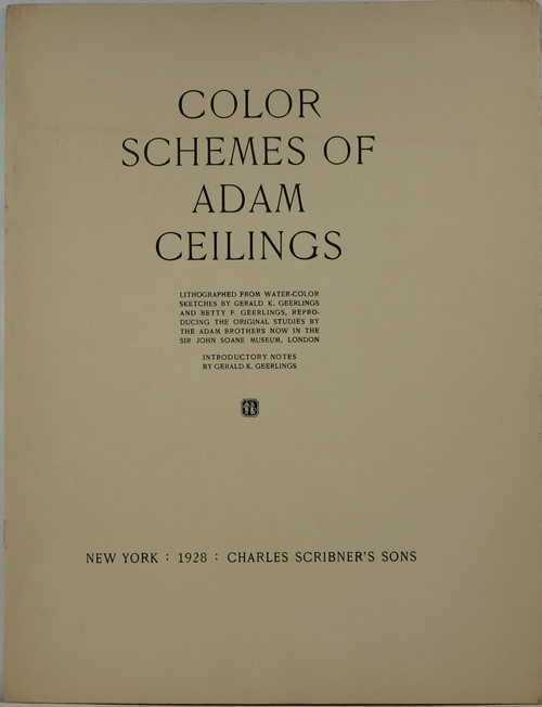 Image for Color Schemes of Adam Ceilings