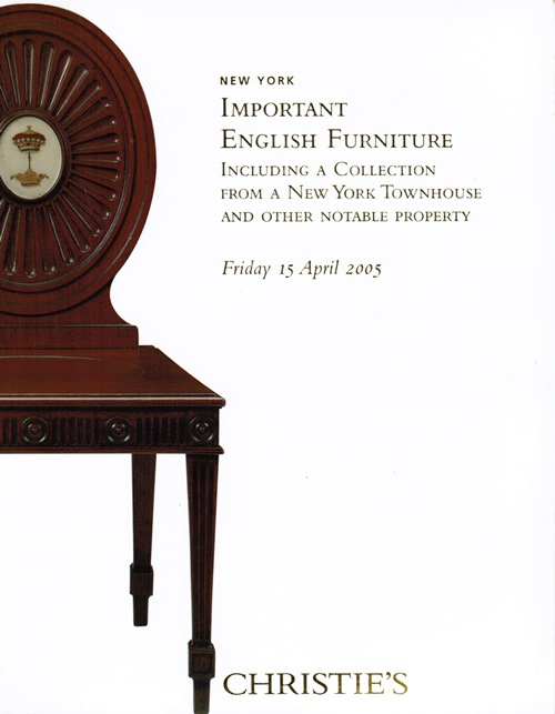 Image for Important English Furniture Including a Collection from a New York Townhouse and Other Notable Property, New York, Friday 15 April 2005