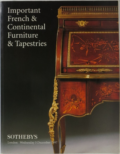 Image for Important French & Continental Furniture & Tapestries: London Wednesday 3 December 1997