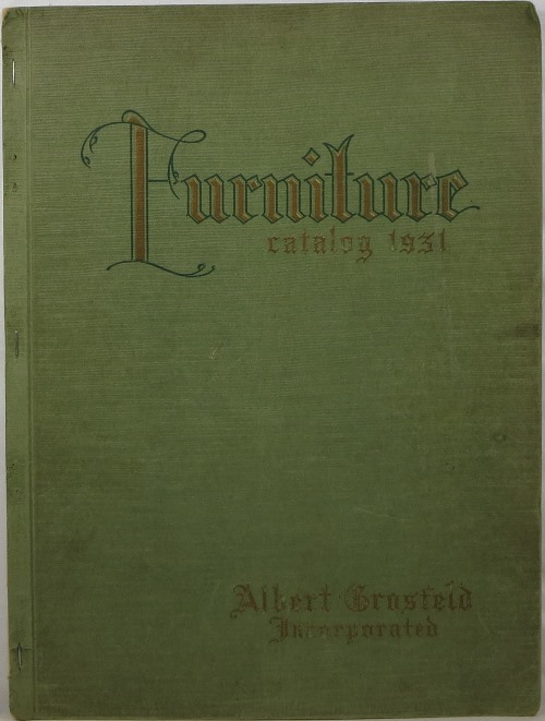 Image for Albert Grosfeld Furniture Catalog 1931 with Price List