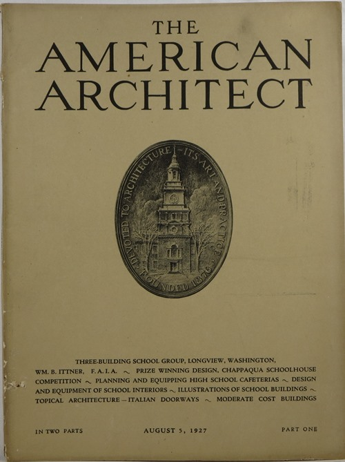 Image for The American Architect, Number 2526, in Two Parts, August 5, 1927