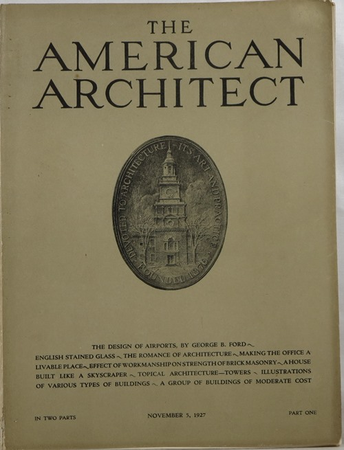 Image for The American Architect, Number 2532 in Two Parts, November 5, 1927