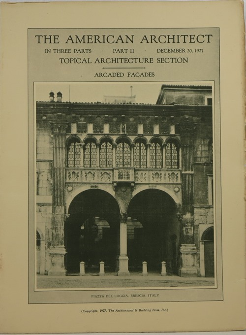 Image for The American Architect, Number 2535, in Three Parts, December 20, 1927
