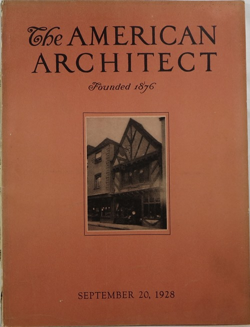 Image for The American Architect, Number 2553, September 20, 1928