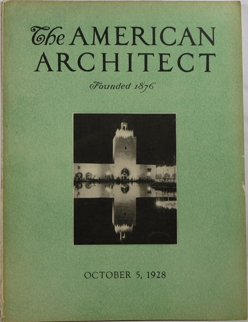 Image for The American Architect, Number 2554, October 5, 1928