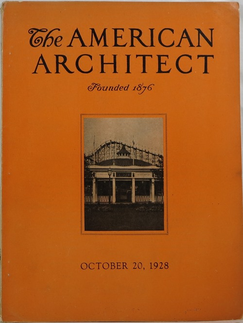 Image for The American Architect, Number 2555, October 20, 1928
