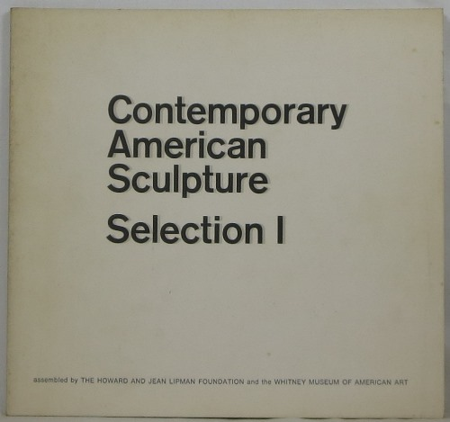 Image for Contemporary American Sculpture: Selection I