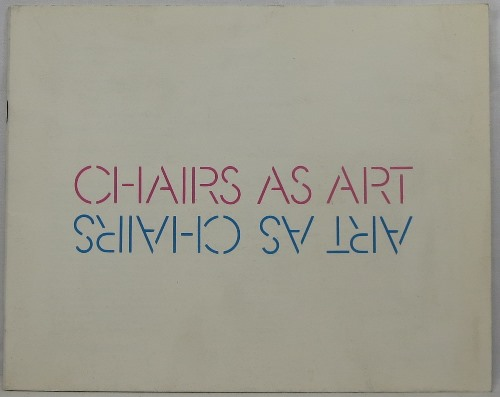 Image for Chairs as Art.  Art as Chairs