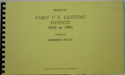 Image for Index of Early U. S. Lighting Patents 1836 to 1901
