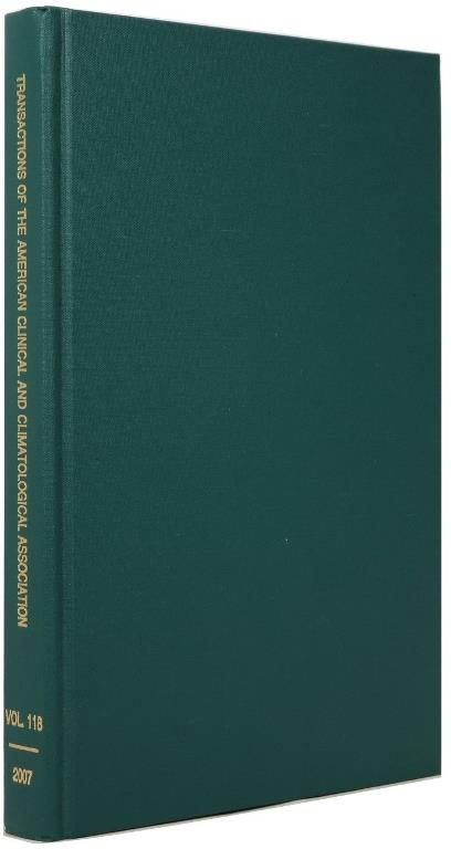 Image for Transactions of the American Clinical and Climatological Association, Volume 118