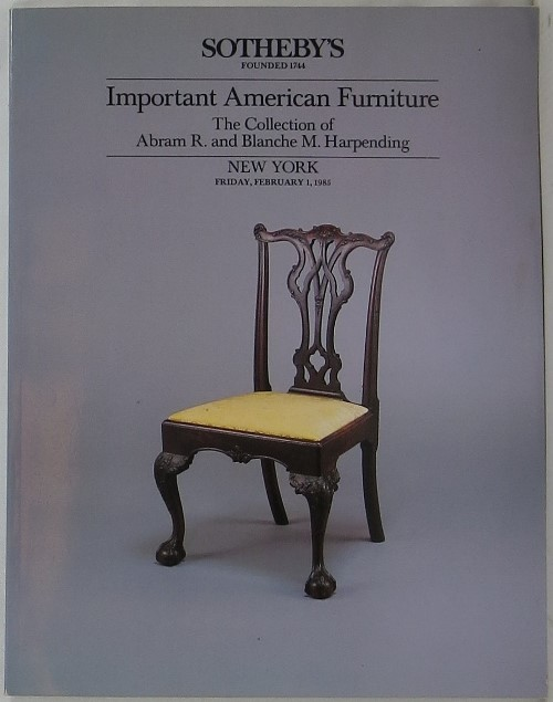 Image for Important American Furniture: The Collection of Abram R. and Blanche M. Harpending, New York, February 1, 1985