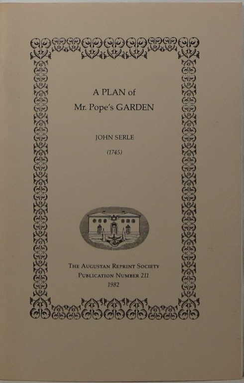Image for A Plan of Mr. Pope's Garden