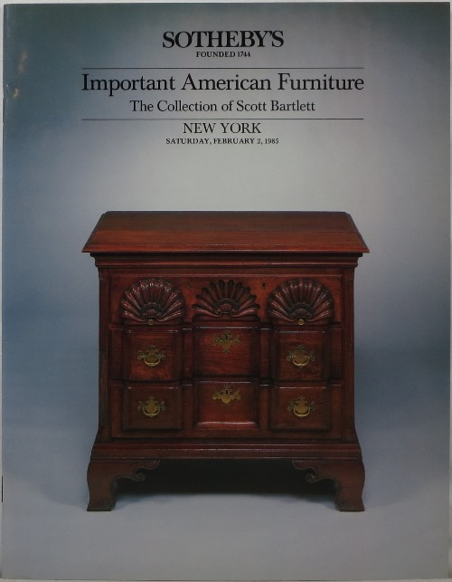 Image for Important American Furniture: The Collection of Scott Bartlett, February 2, 1985