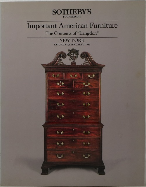 Image for Important American Furniture: The Contents of Langdon