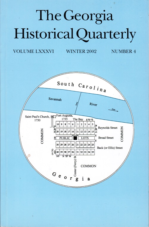 Image for The Georgia Historical Quarterly, Volume LXXXVI, Winter 2002, Number 4