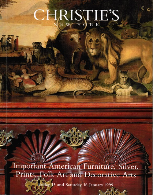 Image for Important American Furniture, Silver, Prints, Folk Art and Decorative Arts, New York, 15 and 16 January 1999 (Sale 9054)