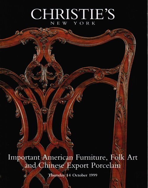 Image for Important American Furniture, Folk Art and Chinese Export Porcelain, New York, 14 October 1999 (Sale 9268)