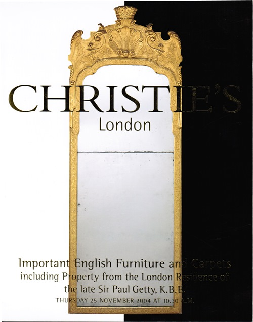 Image for Important English Furniture and Carpets including Property from the London Residence of the late Sir Paul Getty, K.B.E., London, 25 November 2004 (Sale 6959)