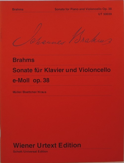 Image for Sonate für Klavier und Violoncello e-Moll op. 38 = Sonata for Piano and Violoncello E minor Op. 38