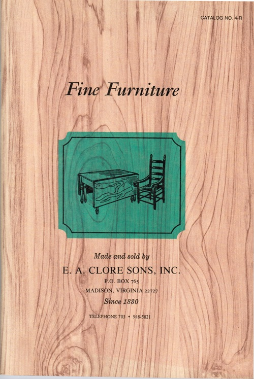 Image for Fine Furniture: E. A. Clore Sons Catalog No. 4-R