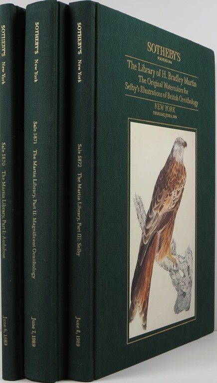 Image for The Library of H. Bradley Manning: Parts I-III, John James Audubon Books & Manuscripts, Magnificient Color-Plate Ornithology, Selby's Original Watercolors, New York, June 6-8, 1989, Sales 5870-5872.