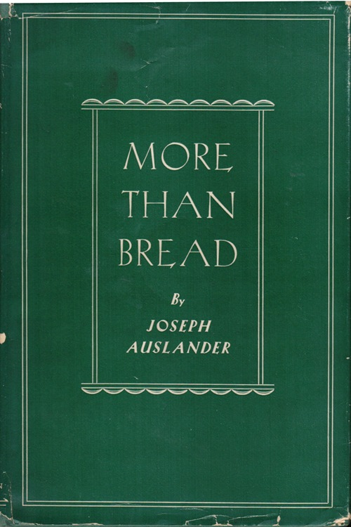 Image for More Than Bread: A Book of Poems