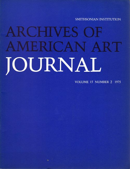 Image for Archives of American Art Journal, Volume 15, Number 2, 1975
