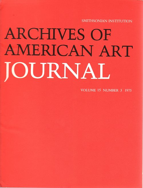 Image for Archives of American Art Journal, Volume 15, Number 3, 1975