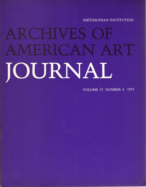 Image for Archives of American Art Journal, Volume 15, Number 4, 1975