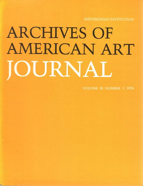 Image for Archives of American Art Journal, Volume 16, Number 1, 1976