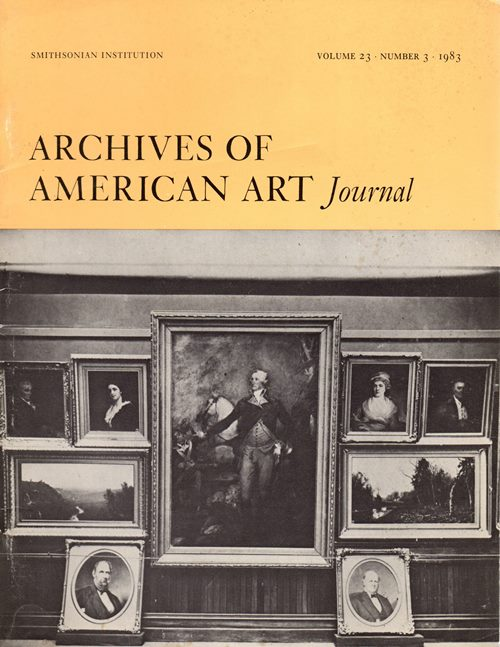 Image for Archives of American Art Journal, Volume 23, Number 3, 1983