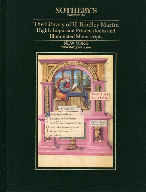 Image for The Library of H. Bradley Martin, Part IX: Highly Important Printed Books and Illuminated Manuscripts, New York, June 14, 1990 (Sale 6036)