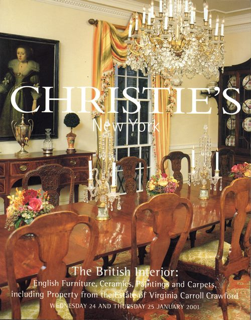 Image for The British Interior: English Furniture, Ceramics, Paintings and Carpets, including Property from the Estate of Virginia Carroll Crawford, New York, 24 and 25 January 2001 (Sale 9594)