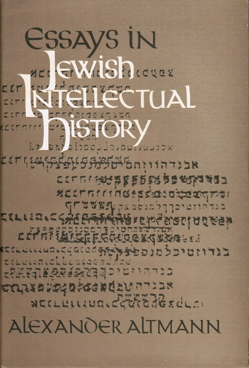Image for Essays in Jewish Intellectual History