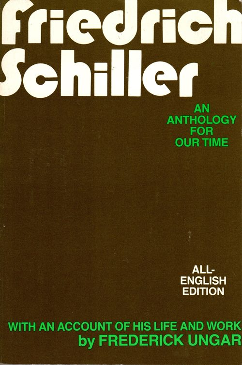 Image for Friedrich Schiller: An Anthology for Our Time