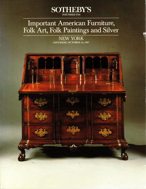Image for Important American Furniture, Folk Art, Folk Paintings and Silver, New York, October 24, 1987 (Sale 5622)