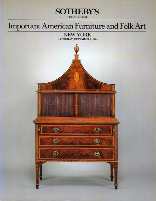 Image for Important American Furniture and Folk Art, New York, December 8, 1984 (Sale 5228)