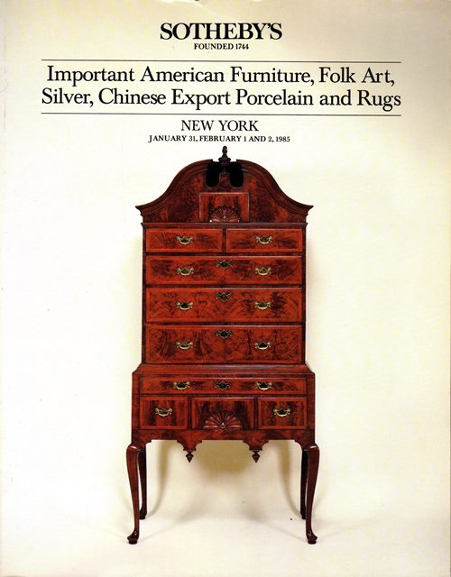 Image for Important American Furniture, Folk Art, Silver, Chinese Export Porcelain and Rugs, New York, January 31, February 1 and 2, 1985 (Sale 5282)